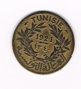 )  TUNESIE  1  FRANC  1921 ( 1340 ) - Tunisie