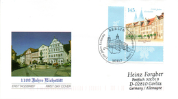 """BRD Schmuck-FDC  """"110 Jahre Eichstätt"""", Mi. 2638 ESST BERLIN 2.1.2008 - FDC: Buste"""