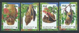 Fiji 1997 - Endangered Species - Fijian Money-faced Bat SG986-989 MNH Cat £5.35 SG2016 - Fiji (1970-...)