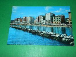 Cartolina Viserba - Alberghi E Spiaggia Visti Dal Mare 1972 - Rimini