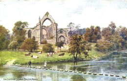 A R QUINTON - SALMON 1473 - THE STEPPING STONES BOLTON ABBEY - WITH CHILDREN - Quinton, AR