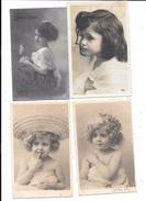 10134 - Lot De 4 CPA Enfants, Bébés, Portraits, - Portraits