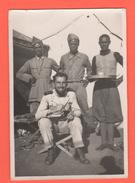 Etiopia AOI 1936 Gondar Militare Italiano E Ascari .. Ora Del Thè ... - Guerre, Militaire