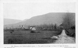 CPA -MARNOZ (39) - Environs De Salins-les-Bains-Aspect Pris Du Passage à Niveau De La Ligne De Suisse Au Début Du Siècle - Otros Municipios