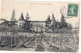---- 33 ------- PLASSAC  Château Monconseil Timbrée TTBE - Blaye