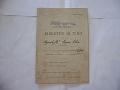 WW2 LIBRETTO DI TIRO 29°REGGIMENTO FANTERIA PISA FRONTE DEL PIAVE A.O. 1936. - Libri
