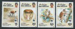 Brunei 1991 - Endangered Species - Proboscis Monkey SG483-486 MNH Cat £9.45 SG2016 - Brunei (1984-...)