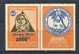 103 ITALIE 2000 - Giordano Bruno - Masonic Franc Maconnerie Freemasonery - Neuf ** (MNH) Sans Charniere (Vignette) - Franc-Maçonnerie