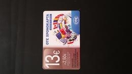 GREECE PREPAID CARD 13 EURO  07.2013. TIRAGE 4.000 - Greece