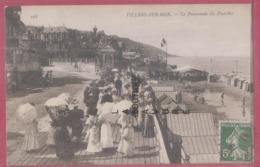 14 - VILLERS SUR MER---La Promenade Des Planches--belle Animation - Villers Sur Mer