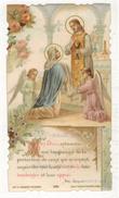 SAUDINOS RITOURET Mon Dieu Entourez Moi Longtemps : IMAGE PIEUSE HOLY CARD SANTINI HEILIG PRENTJE Anna VASSAL Celluloïd - Devotion Images