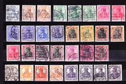 DR - 1905/1920 - MI : LOT 2 GERMANIA - OBLITERE - VOIR DESCRIPTIF - 2 SCANS - Alemania
