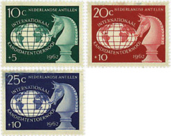 Ref. 30440 * NEW *  - NETHERLANDS ANTILLES . 1962. INTERNATIONAL CHESS TOURNAMENT IN CURAÇAO. TORNEO INTERNACIONAL DE AJ - Antillas Holandesas