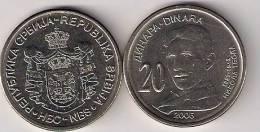 Serbia 20 Dinara 2006. UNC Nikola Tesla - Serbie
