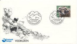 Faroe Islands FDC 19-3-1979 Ram With Cachet Sent To Denmark - Farm