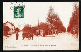 43 BRIOUDE  (HAUTE- LOIRE). ANIMEE..ATTELAGE DE BOEUFS..AVENUE DE LA GARE ET ROUTE DE CLERMONT...C2264 - Brioude