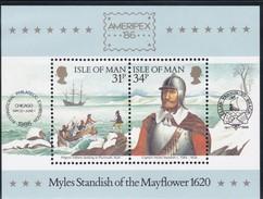 """Man, 1986, 313/16 Block 8, """"Mayflower"""".  MNH ** - Isle Of Man"""