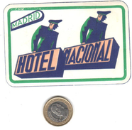ETIQUETA DE HOTEL  - HOTEL NACIONAL - Hotel Labels
