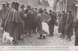 Militaria - Spahi Marocain Retour Du Front - Furnes - Guerre 1914-18