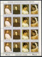 Sao Tome E Principe, 1982, Picasso, International Woman's Year, United Nations, MNH Sheet, Michel 801-804A - Sao Tome Et Principe