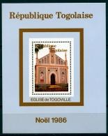 Togo, 1986, Christmas, Church, Religion, Fresco, Art, MNH, Michel Block 292 - Togo (1960-...)