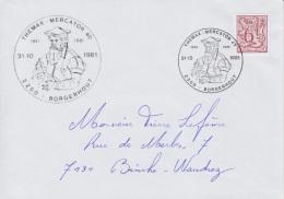Enveloppe (1981-10-31, 2200 Borgerhout) LH - Mercator - PL - Poststempels/ Marcofilie