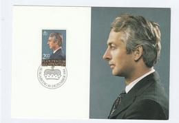 1984 LIECHTENSTEIN FDC Maximum Card PRINCE HANS ADAM  Stamps Cover  Royalty - Maximum Cards