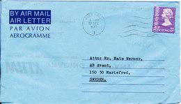 Hong Kong Aerogramme Sent To Sweden Hong Kong 22-12-1977 - Hong Kong (...-1997)