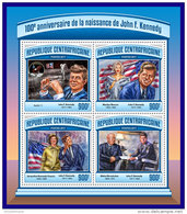 CENTRAL AFRICA 2017 ** Space Raumfahrt Apollo 11 John F. Kennedy M/S - OFFICIAL ISSUE - DH1714 - Africa