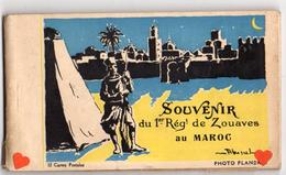 38755-ZE-MAROC-SOUVENIR Du 1er Régt De Zouaves Au Maroc----------carnet Album De 12 CP Brunes - Maroc