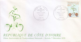 IVORY COAST FIRST DAY COVER 07.12.1979 - 19TH ANNIVERSARY OF INDEPENDENCE NATIONAL KATIOLA - Ivory Coast (1960-...)