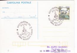 269-Marcofilia-Tema:Militaria-Bollo Speciale:132° Ann.Battaglia P.Romano-Calatafimi-Trapani-1992 - 6. 1946-.. Repubblica