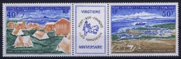 TAAF 1971 AE 25 + 26 Triptique Postfrisch/neuf Sans Charniere /MNH/** - Französische Süd- Und Antarktisgebiete (TAAF)