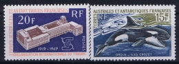 TAAF 1969  34 + 35   Postfrisch/neuf Sans Charniere /MNH/** - French Southern And Antarctic Territories (TAAF)