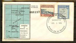 COLOMBIA 1956.04.05 [839&841-1] F.D.C.: Departamentos De Colombia, Intendencia De San Andrés Y Providencia. (1) - Colombia