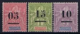 Madagascar Yv 48 - 50 MH/* Falz/ Charniere  1902 - Madagascar (1889-1960)