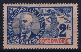 Cote D'Ivoire  Yv 34  MH/* Falz/ Charniere 1906 - Ivoorkust (1892-1944)