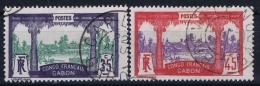 Gabon : Yv  41 + 43 Gestempelt/used/obl. 1910 - Used Stamps