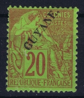 Guyane Yv Nr 22 MH/* Falz/ Charniere  1892 - Nuevos