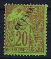 Guyane Yv Nr 22 MH/* Falz/ Charniere  1892 - Neufs