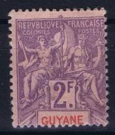 Guyane Yv Nr 48 MH/* Falz/ Charniere - Neufs