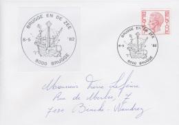 Enveloppe (1982-05-08, 8000 Brugge) RB - Caraque Du15e Siècle - PL - Poststempels/ Marcofilie