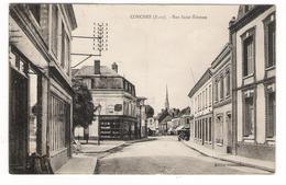 EURE / CONCHES / RUE SAINT-ETIENNE ( Magasin BELHOMME ) / Cachet DAGUIN De 1937 - Conches-en-Ouche