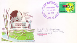 AUSTRALIA FIRST DAY COVER 13.04.1970 - COMMEMORATING THE INTERNATIONAL GRASSLANDS CONGRESS - Covers & Documents