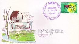 AUSTRALIA FIRST DAY COVER 13.04.1970 - COMMEMORATING THE INTERNATIONAL GRASSLANDS CONGRESS - Storia Postale