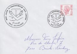 Enveloppe (1982-11-27, 3800 Sint-Truiden) RB - ST-François D'Assise - PL - Poststempels/ Marcofilie