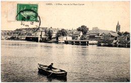 60 CREIL - L'oise, Vue De La Place Carnot   (Recto/Verso) - Creil