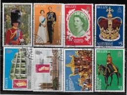 BELIZE  1979, SCOTT #430-7, QUEEN ELIZABETH 11, 25th Aniversary Of Coronation    CTO WITH GUM - Belize (1973-...)