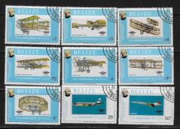 BELIZE  1979, SCOTT #440-8, POWERED FLIGHT, 75 Th ANNIVERSARY    CTO WITH GUM - Belize (1973-...)