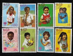 BELIZE  1980, SCOTT #490-7,  INTERNATIONAL YEAR Of CHILD   CTO WITH GUM - Belize (1973-...)